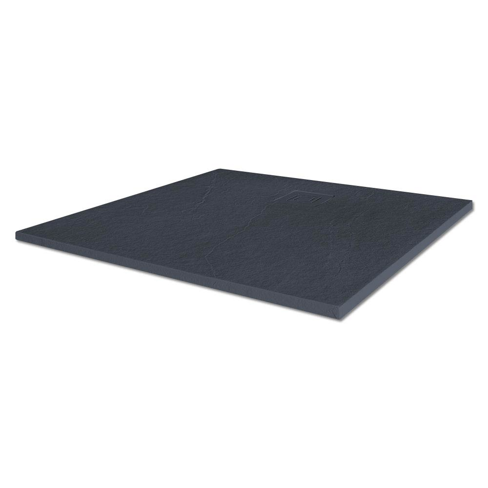 Merlyn Truestone Square Shower Tray - Slate Black - 900 x 900mm profile large image view 1