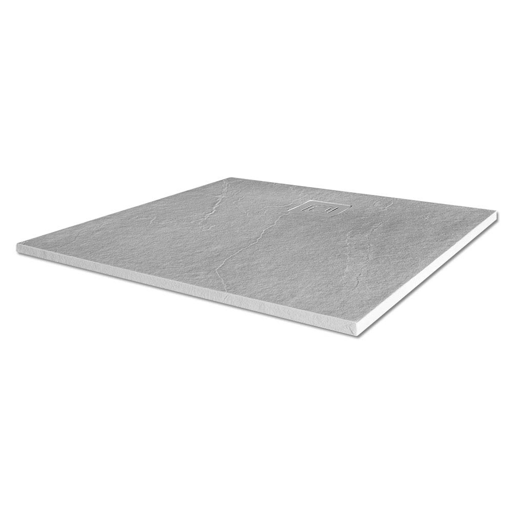 Merlyn Truestone Square Shower Tray - White - 900 x 900mm Large Image