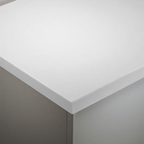 Tavistock 1280mm Solid Surface Worktop - Arctic White - TA3W12A.AR