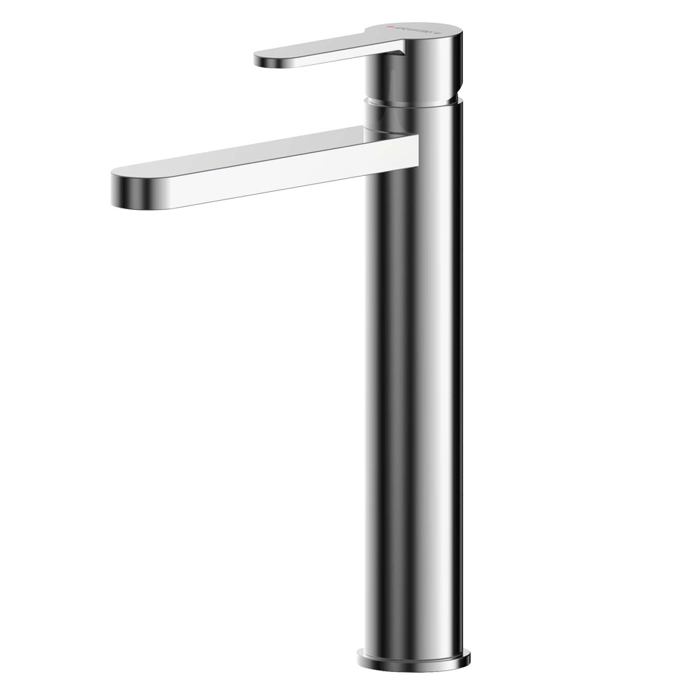 Asquiths Sanctity Tall Mono Basin Mixer With Push-Button Waste - TAA5109