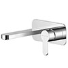 Asquiths Sanctity Wall Mounted Basin Mixer (2TH) With Backplate - TAA5113 profile small image view 1