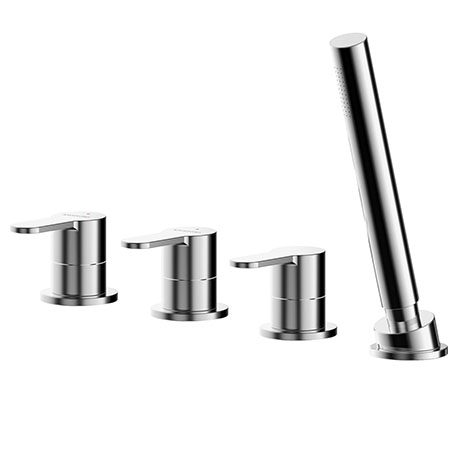 Asquiths Sanctity Deck Mounted Bath Shower Mixer (4TH) No Spout - TAA5125