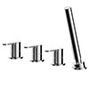 Asquiths Sanctity Deck Mounted Bath Shower Mixer (4TH) No Spout - TAA5125 profile small image view 1