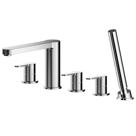 Asquiths Sanctity Deck Mounted Bath Shower Mixer (5TH) With Spout - TAA5126