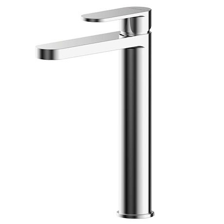 Asquiths Solitude Tall Mono Basin Mixer With Push-Button Waste - TAB5109