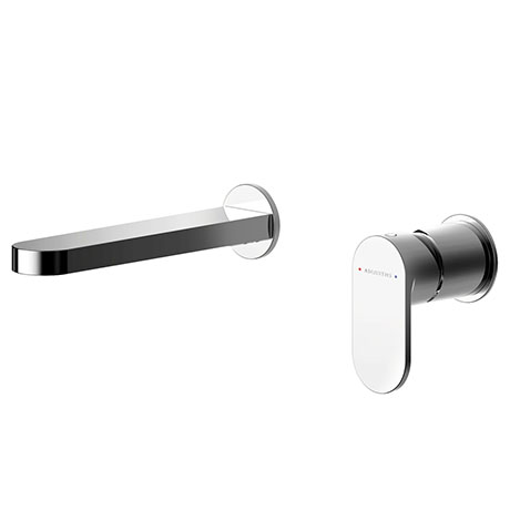 Asquiths Solitude Wall Mounted Basin Mixer (2TH) Without Backplate - TAB5112