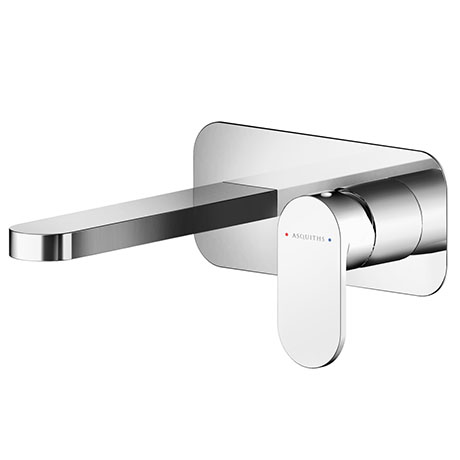 Asquiths Solitude Wall Mounted Basin Mixer (2TH) With Backplate - TAB5113