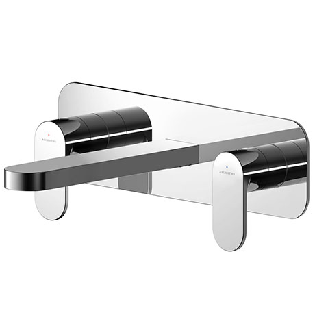 Asquiths Solitude Wall Mounted Basin Mixer (3TH) With Backplate - TAB5115