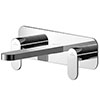 Asquiths Solitude Wall Mounted Basin Mixer (3TH) With Backplate - TAB5115 profile small image view 1