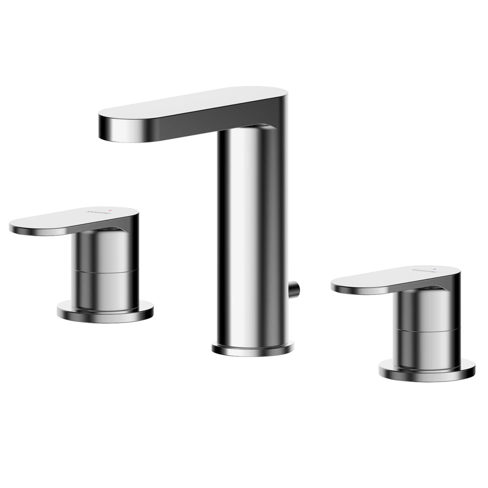 Asquiths Solitude Deck Mounted Basin Mixer (3TH) With Pop-Up Waste - TAB5117