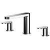 Asquiths Solitude Deck Mounted Bath Filler (3TH) - TAB5121 profile small image view 1