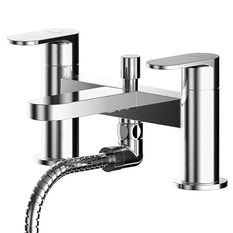 Asquiths Solitude Deck Mounted Bath Shower Mixer with Shower Kit - TAB5123