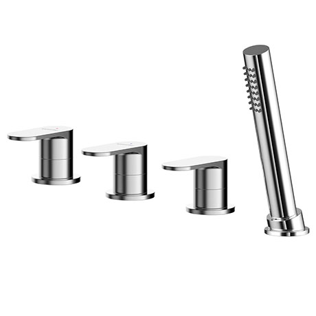 Asquiths Solitude Deck Mounted Bath Shower Mixer (4TH) No Spout - TAB5125