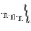 Asquiths Solitude Deck Mounted Bath Shower Mixer (4TH) No Spout - TAB5125 profile small image view 1