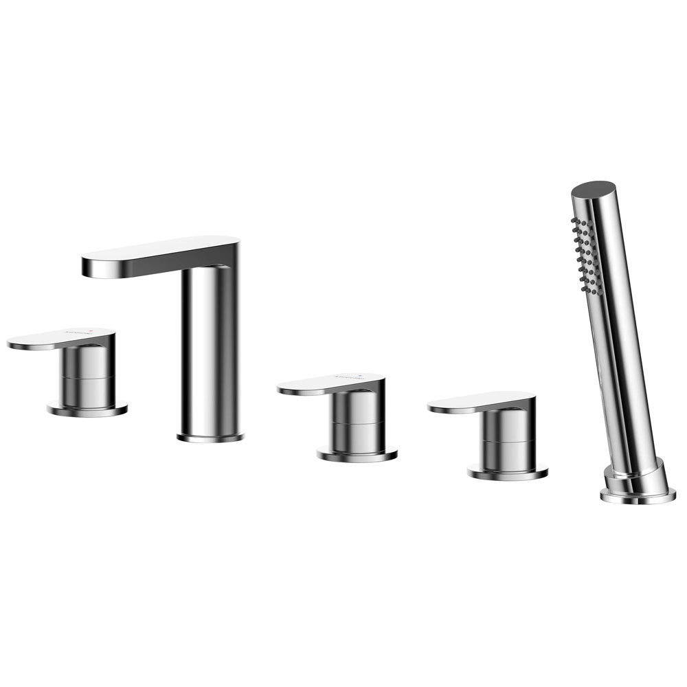 Asquiths Solitude Deck Mounted Bath Shower Mixer (5TH) With Spout - TAB5126