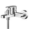 Asquiths Solitude Wall Mounted Bath Shower Mixer with Shower Kit - TAB5127 profile small image view 1