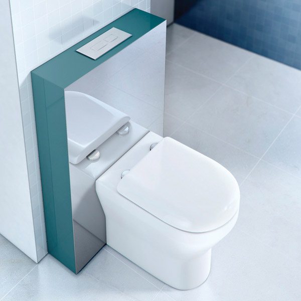 Aqua Cabinets - W550 x D150mm Tablet BTW WC unit with pan, cistern & flush plate - Ocean Profile Large Image