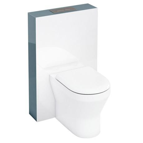 Aqua Cabinets - W550 x D150mm Tablet BTW WC unit with pan, cistern & flush plate - Ocean