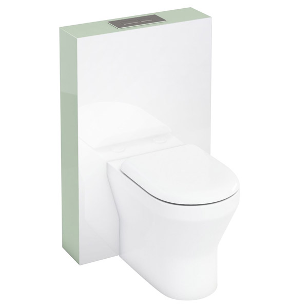 Aqua Cabinets - W550 x D150mm Tablet BTW WC unit with pan, cistern & flush plate - Reef Large Image