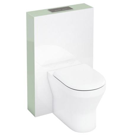 Aqua Cabinets - W550 x D150mm Tablet BTW WC unit with pan, cistern & flush plate - Reef