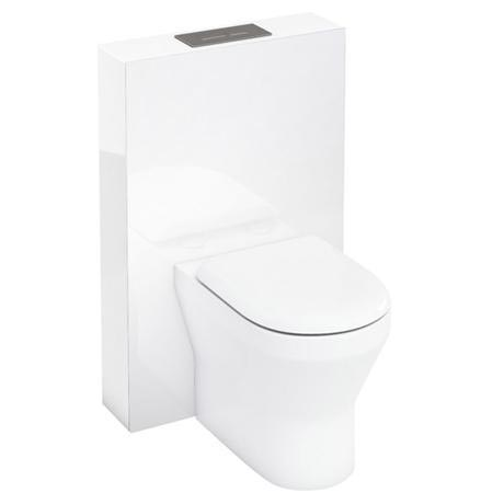 Aqua Cabinets - W550 x D150mm Tablet BTW WC unit with pan, cistern & flush plate - White