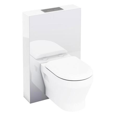 Aqua Cabinets - W550 x D150mm Tablet Wall Hung WC unit with pan, cistern & flush plate - White