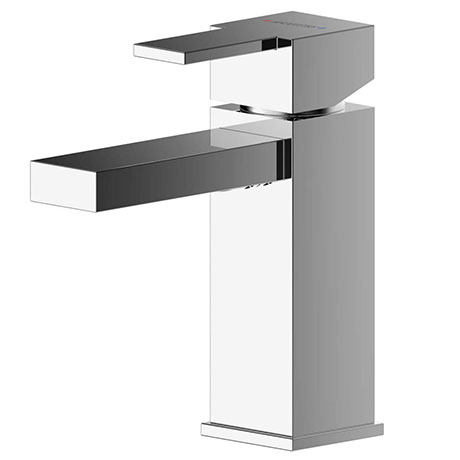 Asquiths Revival Mini Mono Basin Mixer With Push-Button Waste - TAC5106