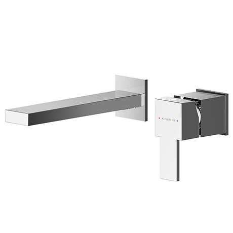 Asquiths Revival Wall Mounted Basin Mixer (2TH) Without Backplate - TAC5112