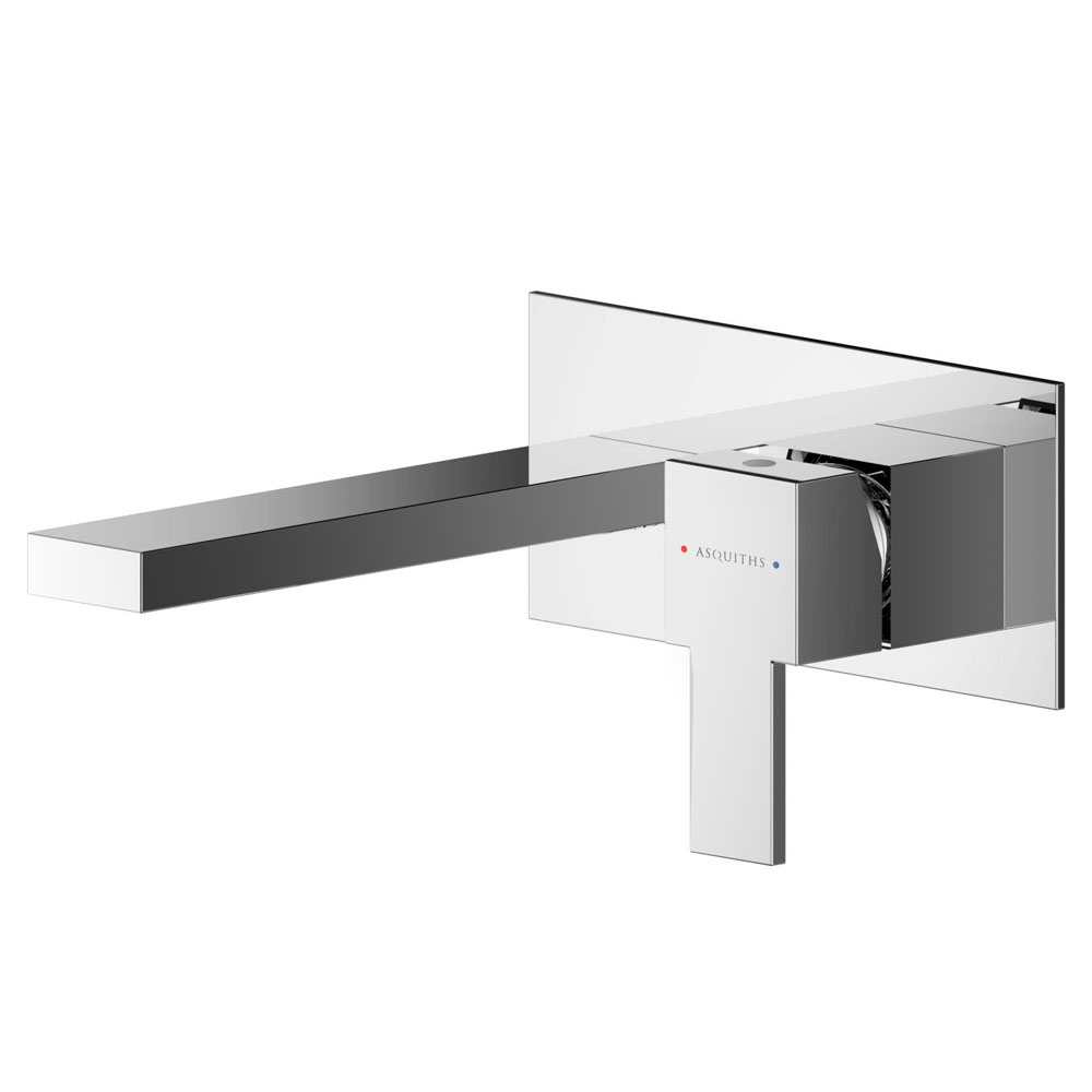 Asquiths Revival Wall Mounted Basin Mixer (2TH) With Backplate - TAC5113