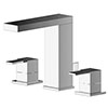 Asquiths Revival Deck Mounted Basin Mixer (3TH) With Pop-Up Waste - TAC5117 profile small image view 1