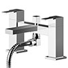 Asquiths Revival Deck Mounted Bath Shower Mixer with Shower Kit - TAC5123 profile small image view 1