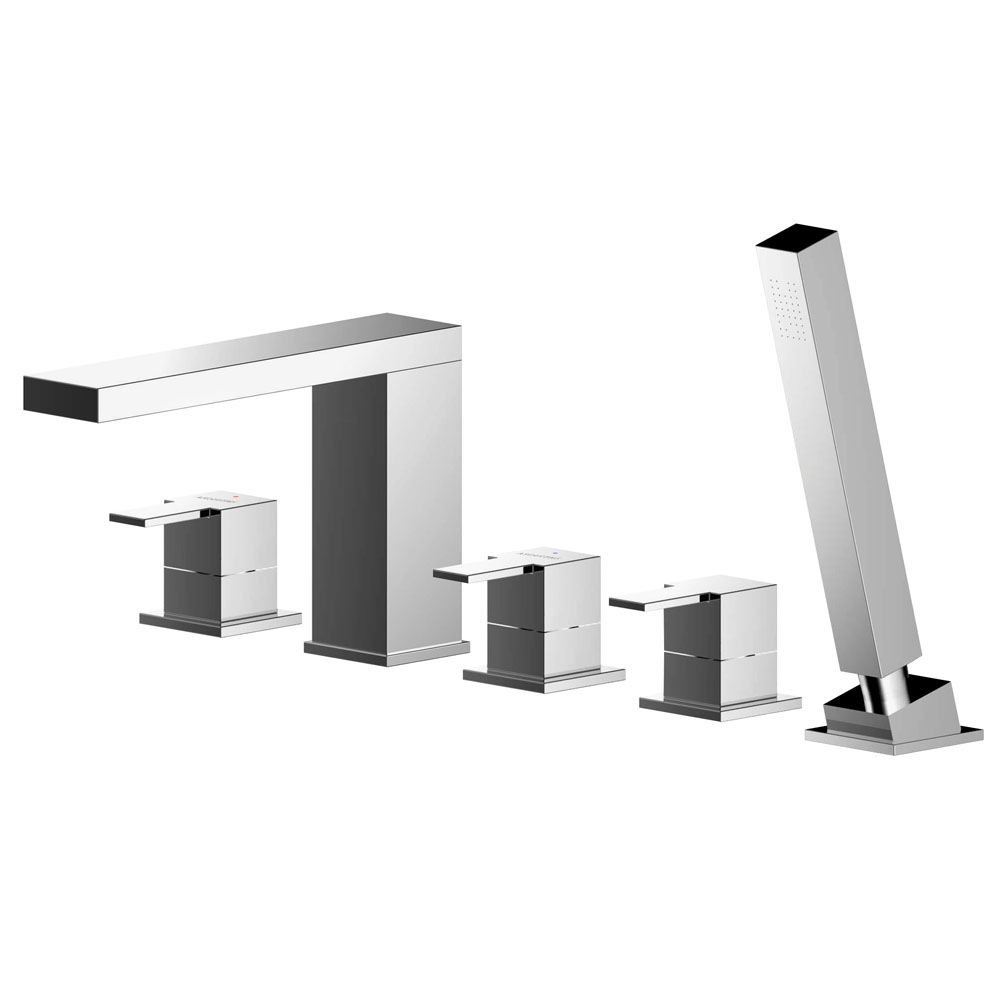 Asquiths Revival Deck Mounted Bath Shower Mixer (5TH) With Spout - TAC5126