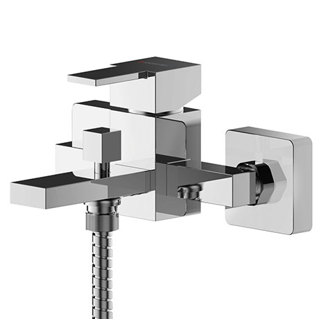 Asquiths Revival Wall Mounted Bath Shower Mixer with Shower Kit - TAC5127