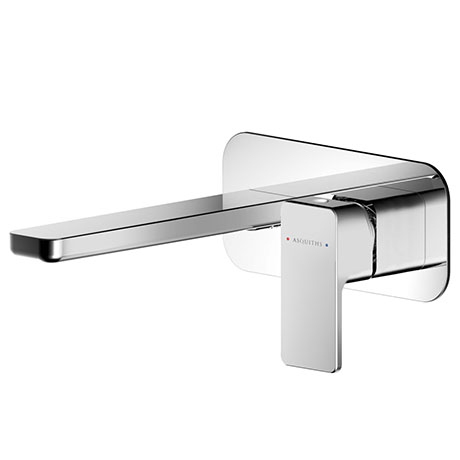 Asquiths Tranquil Wall Mounted Basin Mixer (2TH) With Backplate - TAD5113