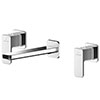 Asquiths Tranquil Wall Mounted Basin Mixer (3TH) Without Backplate - TAD5114 profile small image view 1