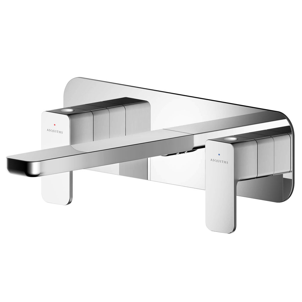 Asquiths Tranquil Wall Mounted Basin Mixer (3TH) With Backplate - TAD5115
