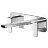 Asquiths Tranquil Wall Mounted Basin Mixer (3TH) With Backplate - TAD5115 profile small image view 1