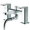 Asquiths Tranquil Deck Mounted Bath Shower Mixer with Shower Kit - TAD5123 profile small image view 1
