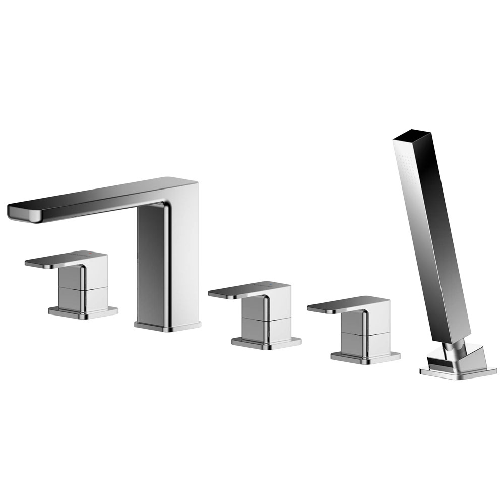 Asquiths Tranquil Deck Mounted Bath Shower Mixer (5TH) With Spout - TAD5126
