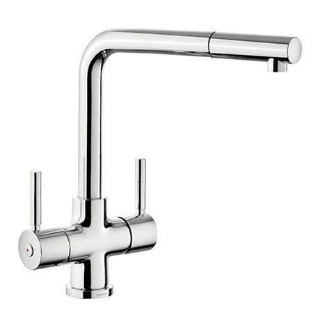 Rangemaster Aquadisc 5 Kitchen Mixer Tap with Pull Out Rinser