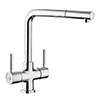 Rangemaster Aquadisc 5 Kitchen Mixer Tap with Pull Out Rinser profile small image view 1