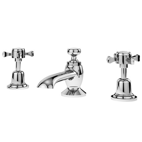 Asquiths Restore Deck Mounted Basin Mixer (3TH) With Pop-Up Waste - TAE5317