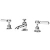Asquiths Restore Lever 3TH Deck Basin Mixer With Pop-up Waste - TAF5317 profile small image view 1