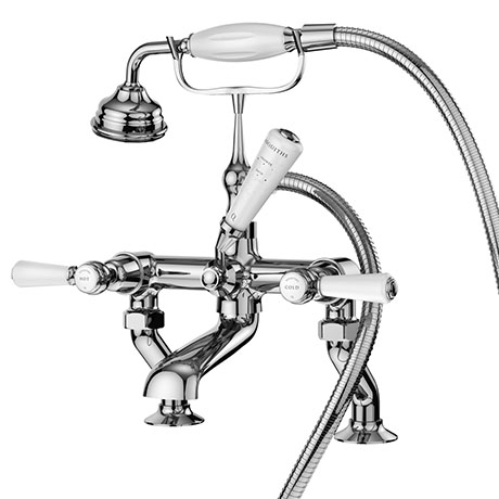 Asquiths Restore Lever Deck Mounted Bath Shower Mixer with Shower Kit - TAF5323
