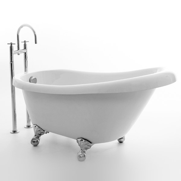 Royce Morgan Tampa 1500 Luxury Freestanding Bath with Waste profile large image view 1
