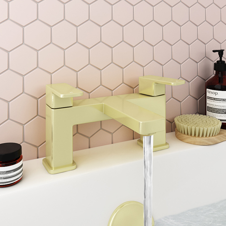 Turin Modern Brushed Brass Bath Filler Tap