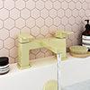 Toreno Modern Brushed Brass Bath Filler Tap profile small image view 1