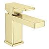 Toreno Modern Brushed Brass Basin Mono Mixer Tap profile small image view 1