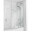 Simpsons Ten Hinged Bath Screen with Fixed Panel - 900mm profile small image view 1