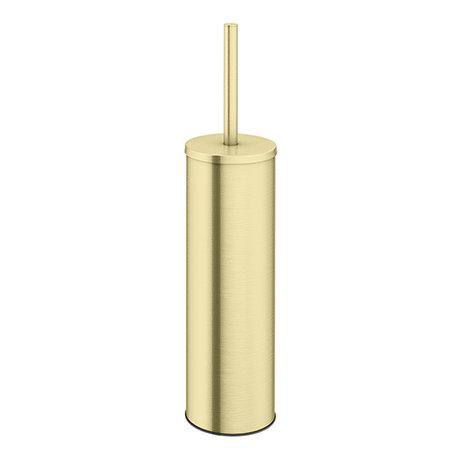 Arezzo Brushed Brass Toilet Brush + Holder